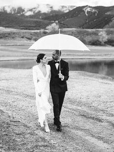 Celebrity stylist Jamie Schneider wore the most gorgeous Saint Laurent gown for her wedding featured in Vouge.