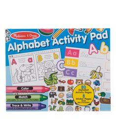 Alphabet Activity Pad  zulily  zulilyfinds d6ea485615ca