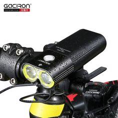 Professional 1600 Lumens Bicycle Light Power Bank Waterproof USB Rechargeable Bike Light Flashlight free W05 tail light