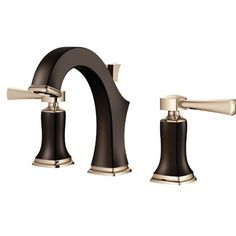 SpringFaucet Audrey Series Standard Bathroom Faucet Double Handle with Drain Assembly Transitional Bathroom Sink Faucets, Brass Bathroom Faucets, Brass Faucet, Widespread Bathroom Faucet, Lavatory Faucet, Faucet Handles, Bathroom Fixtures, Modern Vintage Homes, Amazing Bathrooms