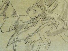 """DOMINIQUIN (d'Après) - St Nil guérit un Jeune Possédé avec l'Huile de la Lampe, Le Père et son Fils (drawing, dessin, disegno-Louvre INV9147) - Detail 10  -  TAGS /  details détail détails detalles """"dessins 17e"""" """"17th-century drawings"""" """"Italian paintings"""" """"peinture italienne"""" croquis étude Study studies sketch sketches Museum Paris France """"Domenico Zampieri"""" """"Le Dominiquin"""" """"saint Nil"""" kid kids child children  Bible man men hommes portrait portraits face """"little boy"""" garçon père father son…"""