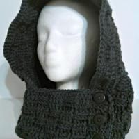 A lovely hooded cowl that is easy to make. The hooded cowl features the basket weave stitch which makes for a thick, warm item. Crochet Beanie, Knitted Hats, Hooded Cowl, Crochet Clothes, Basket Weaving, Hoods, Weave, Crochet Patterns, Stitch