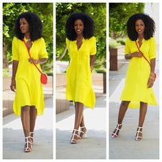The entire look - Black Hair Information Community Look Fashion, Fashion Show, Womens Fashion, Fashion Ideas, Fashion Inspiration, Honeymoon Style, Style Pantry, Have A Lovely Weekend, Mellow Yellow