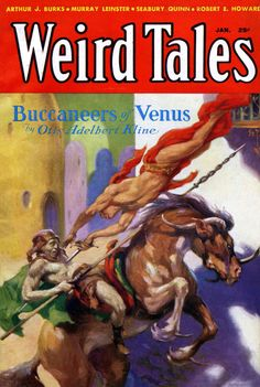 Weird Tales - Jan 1933 - Part 2 of the serialization of the novel The Port of Peril. This issue also contains the Conan story The Scarlet Citadel, which is one of the few times Conan actually faces a giant snake.