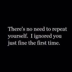 The first time...