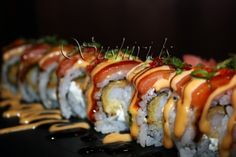 OMG Susuhi Roll - If you like sushi but you're not too into the raw stuff then this roll will knock your socks off!