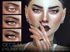 The Sims Resource: Cecilia Eyeliner N51 by Pralinesims • Sims 4 Downloads