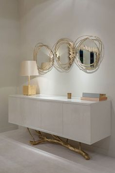 – Home Decor : With these expensive mirrors, you'll get an effortlessly modern and chic inter. Mirrors – Home Decor : With these expensive mirrors, you'll get an effortlessly modern and chic interior design Interior Design Trends, Home Design, Interior Decorating, Decorating Ideas, Luxury Interior, Interior Paint, Spa Design, Decorating Websites, Deco Design
