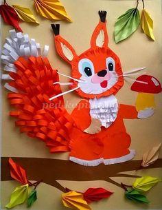animals paper crafts « Preschool and Homeschool Paper Crafts For Kids, Diy Arts And Crafts, Preschool Crafts, Projects For Kids, Autumn Crafts, Autumn Art, Decoration Creche, Art And Craft Videos, Fish Crafts