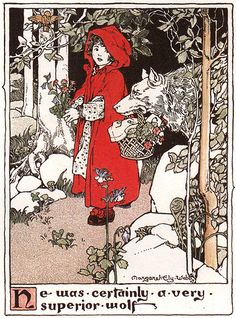 Margaret Ely Webb, Red Riding Hood, 1903 by Gatochy on Flickr.