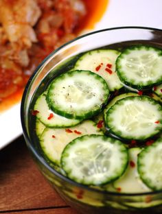 Cote D' Ivoire Cucumber and Zucchini salad, get the recipe and join the culinary journey around the world at http://www.internationalcuisine.com its free!