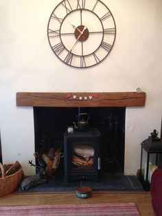 Solid Oak Fire Place Beam - handcrafted at Celtic Oak, Penclawdd, South Wales Fireplace Beam, Range Cooker, Ceiling Beams, South Wales, Solid Oak, Shelving, Celtic, Decorating Ideas, Flooring