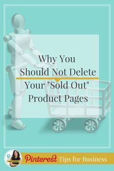 "Pinterest for Ecommerce: Why you shouldn't delete your ""sold out"" product pages on Pinterest! Pinterest is very focused on the quality of their user's experience and if you are not managing dead links or expired pages there can be consequences. Learn more from Pinterest Marketing Expert Anna Bennett at http://www.whiteglovesocialmedia.com/how-to-fix-broken-links-and-dead-pages-for-pinterest-and-how-it-can-hurt-you-if-you-dont/"