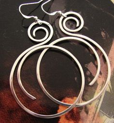 sterling curl hoops.LOVE these!