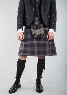 Persevere Flint Grey Tartan 8 Yard Kilt Kilt Men, Men In Kilts, Le Kilt, Modern Man, Edinburgh, Tartan, Yard, Grey, Coat