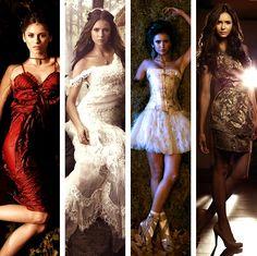#TVD The Vampire Diaries Elena Gilbert(Nina Dobrev) in some dresses