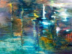 Water #32 by Diane Borg | oil painting | Ugallery Online Art Gallery