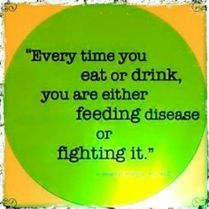 So true.  Do you feed or fight?  Even better, do you build sustained wellness?