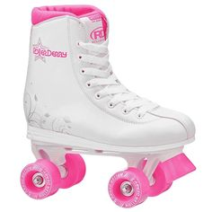 Youth 71156: Roller Derby Star 350 Girls Skates 2016 White Pink Girls Size 1 New U324g Padded BUY IT NOW ONLY: $38.99