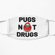 'Adorable Pugs Not Drugs Design' Mask by Pienkerbelle Drug Design, Mask Design, Snug Fit, Pugs, Masks, Medical, Printed, Awesome, Products