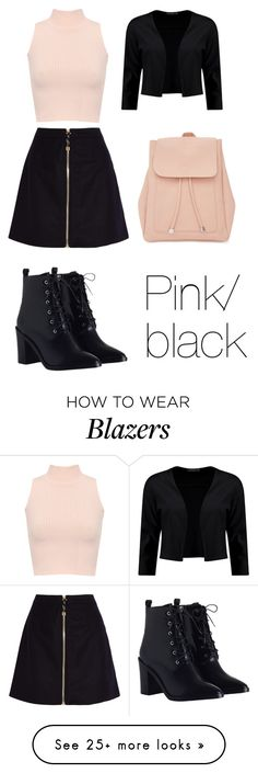 """Pink/black"" by love5sosforever on Polyvore featuring WearAll, Acne Studios, Zimmermann, Boohoo and New Look"