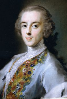 Horace Walpole (1717 – 97) by Rosalba Carriera, pastel portrait made while he was on his grand tour.