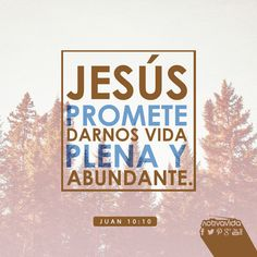 Juan 10:10 El ladrón no viene sino para hurtar y matar y destruir; yo he venido para que tengan vida, y para que la tengan en abundancia.♔
