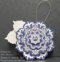 Project: Snowflake Ornament · Stamping