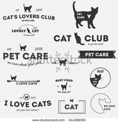 Find Hipster Vintage Vector Logo Set stock images in HD and millions of other royalty-free stock photos, illustrations and vectors in the Shutterstock collection. Hipster Vintage, Hipster Cat, Logo Vintage, Vintage Logo Design, Vintage Cat, Silhouette Images, Cat Silhouette, Cafe Logo, Dog Logo
