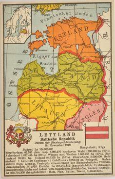 Vitber :: atklātne, Karte Lettland, gads, 20-30tie g. 20 gs., 14 x 9 cm