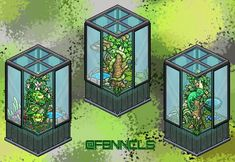 Habbo Hotel, Isometric Art, Cute House, Pet Cage, Nature Aesthetic, Minecraft Buildings, Archer, Art Pictures, Anastasia