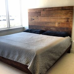 Every bed is uniquely made from Reclaimed Old and New Cypress wood. They are custom made to fit any size mattress. Customers have the choice of