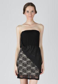 Asymmetric Lace Combination Dress
