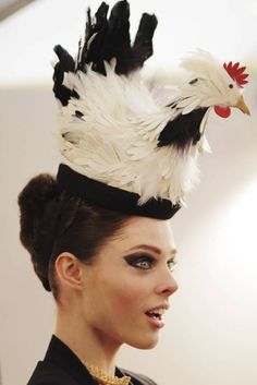 hen hat... I think this might make some chickens a tad nervous.