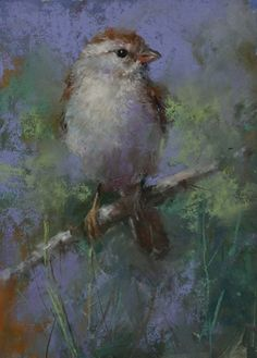 """Branch Manager by Mike Beeman Pastel ~ 8"""" x 6"""""""