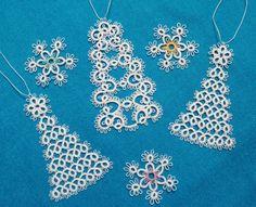 Ажурные ёлочки для новогодней ёлки :: Фриволите Другие изделия - ArtIzh.ru
