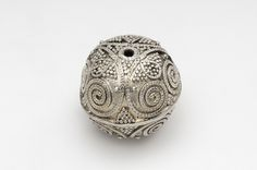 Bead. Silver.  Hoard find, Rone, Gotland, Sweden. SHM 16740. In the Historiska Museet, Stockholm.