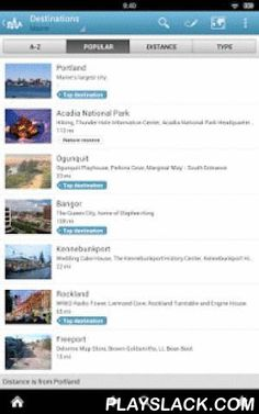 Maine Travel Guide By Triposo  Android App - playslack.com , Features of Triposo's guide to Maine:★ Suggestions of what's interesting to see and do in Maine, depending on time, weather and your location;★ A detailed sights section with all the monuments of Portland, Ogunquit, Bar Harbor, Bangor;★ Eating out section with the best restaurants in Portland, Ogunquit, Bar Harbor, Bangor;★ Discover the nightlife of Maine! Bars, pubs & disco's in Portland, Ogunquit, Bar Harbor, Bangor;★ Book…