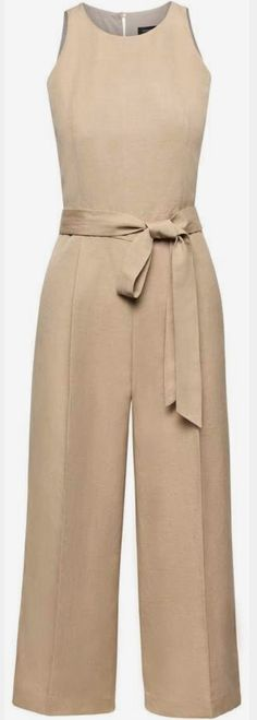 For Paris, Alternate - Banana Republic Cropped Linen-Blend Wide-Leg Jumpsuit Summer Outfits, Cute Outfits, Mode Style, Fashion Dresses, Womens Fashion, Petite Fashion, Curvy Fashion, Fall Fashion, Style Fashion