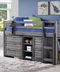 Look what I found on #zulily! Twin Louver Three-Drawer Storage Loft by Donco Kids #zulilyfinds