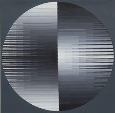Leopoldo Torres Agüero (Argentinian, 1924-1995), Vertical-Charbon, 1971. Acrylic on canvas, 100 x 100cm.