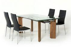 Modern Glass Dining Table Helena Modern Extendable Glass Dining Table