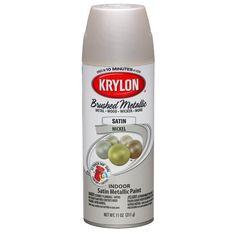 Krylon Brushed Metallic Paint, Brushed Nickel for hinges