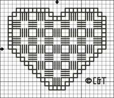Free Hardanger Patterns - For Beginners and Beyond: Free Hardanger Heart Pattern - Printable Chart