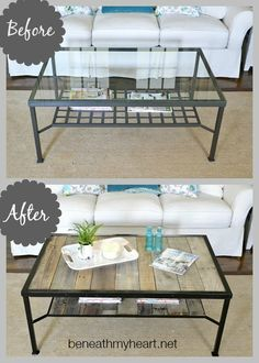 Before and After Coffee Table makeover