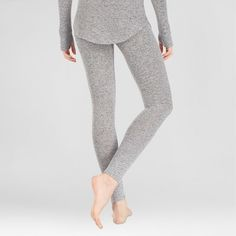 fec8c374d597 Warm Essentials by Cuddl Duds Women's Sweater Knit Thermal Leggings - Dark  Charcoal S #Duds