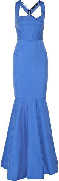 ROland Mouret England Stretch Cotton Gown - Lyst