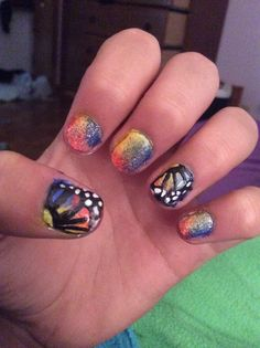 Butterfly nails I made myself