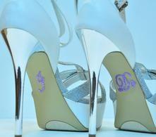Unik Occasions - Crystal Rhinestone I Do Wedding Shoe Stickers - Lavender