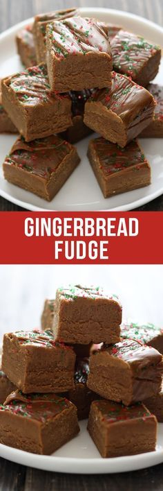 This easy homemade Gingerbread Fudge tastes like gingerbread cookie dough and requires no thermometer! Plus there's no marshmallows or condensed milk! (healthy no bake cookie dough) Fudge Recipes, Candy Recipes, Baking Recipes, Sweet Recipes, Holiday Recipes, Dessert Recipes, Winter Recipes, Christmas Recipes, Christmas Sweets